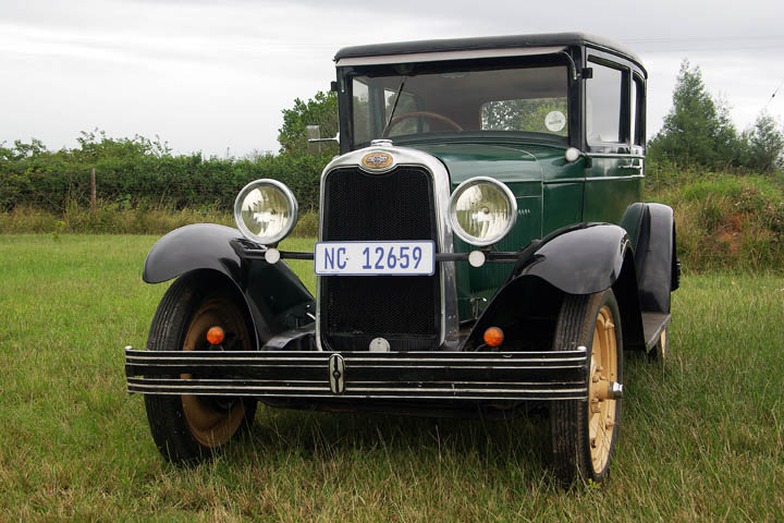 1928 Chevy National two-door front view