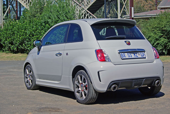 2012 Fiat 500 Abarth rear