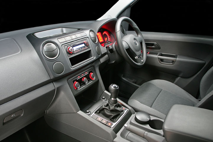 2011 VW Amarok single-cab interior