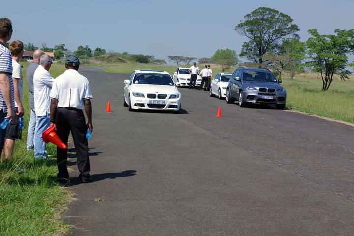 BMW driver training braking demonstration