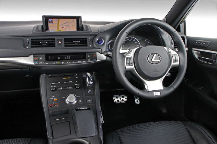 2012 Lexus CT200h interior