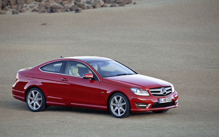 2011 MB C class coupe front