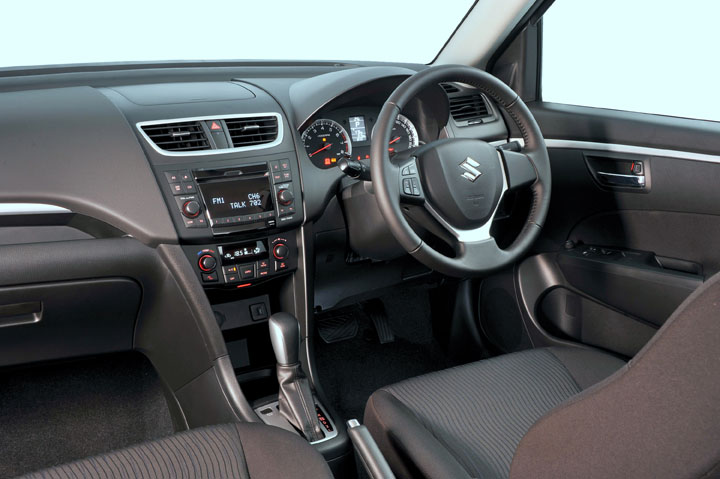 2011 Suzuki Swift interior view