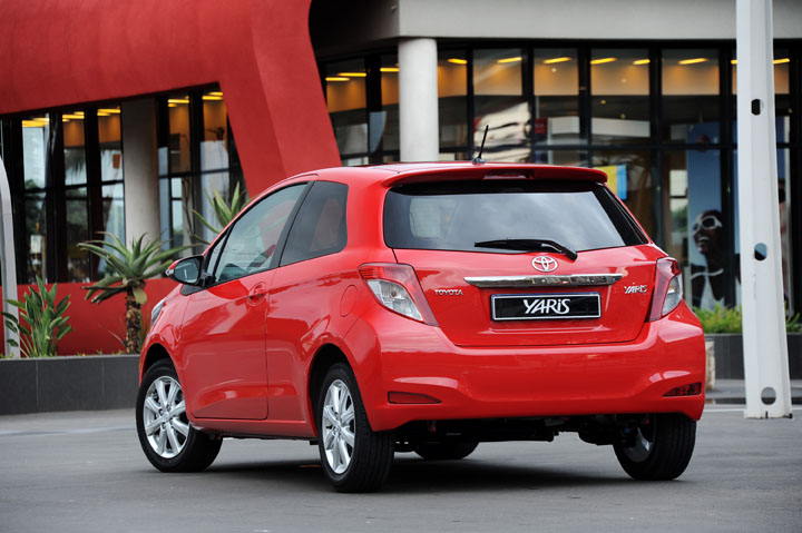 2012 Toyota Yaris 3-door rear